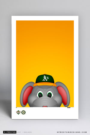 Minimalist Stomper Art Poster Art Poster - Oakland Athletics - S. Preston Art + Designs