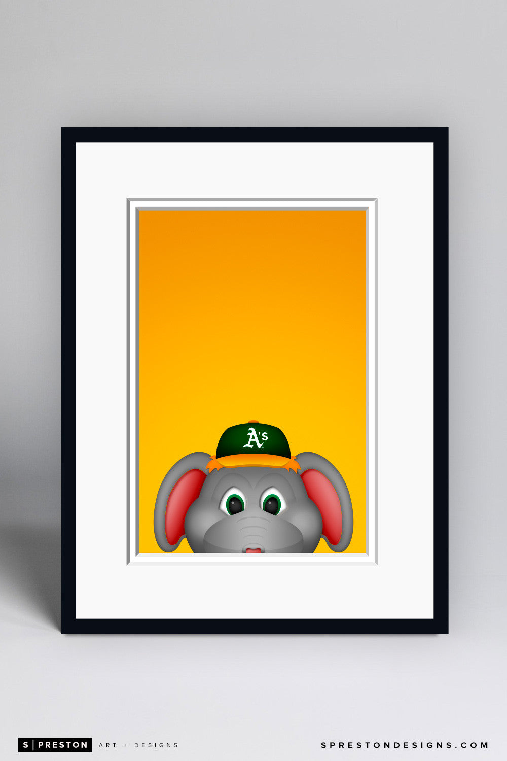 Minimalist Stomper - Oakland Athletics - S. Preston