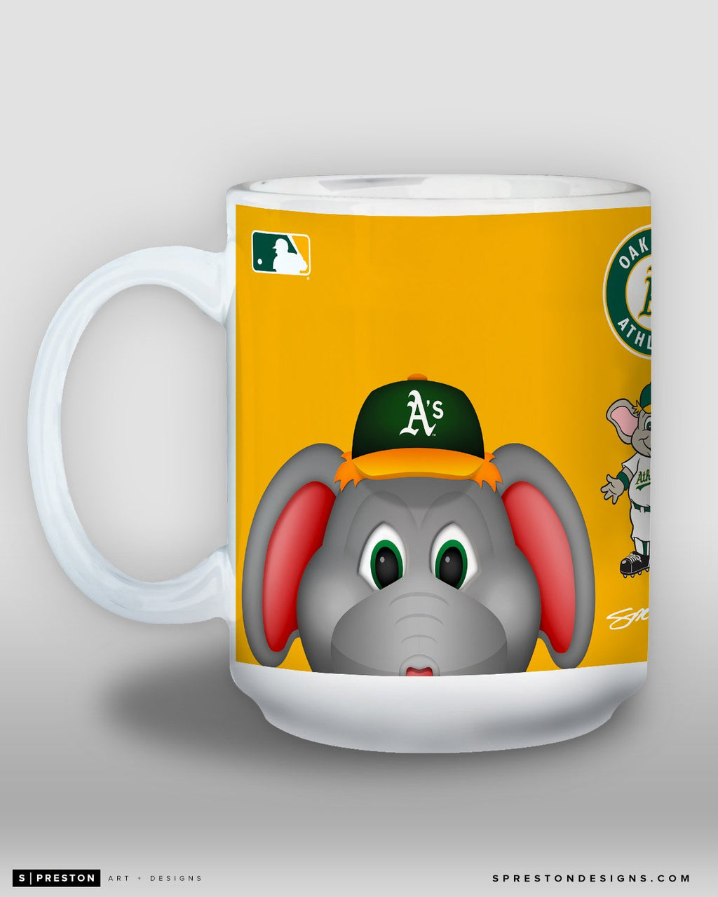 Minimalist Stomper Coffee Mug - MLB Licensed - Oakland Athletics Mascot