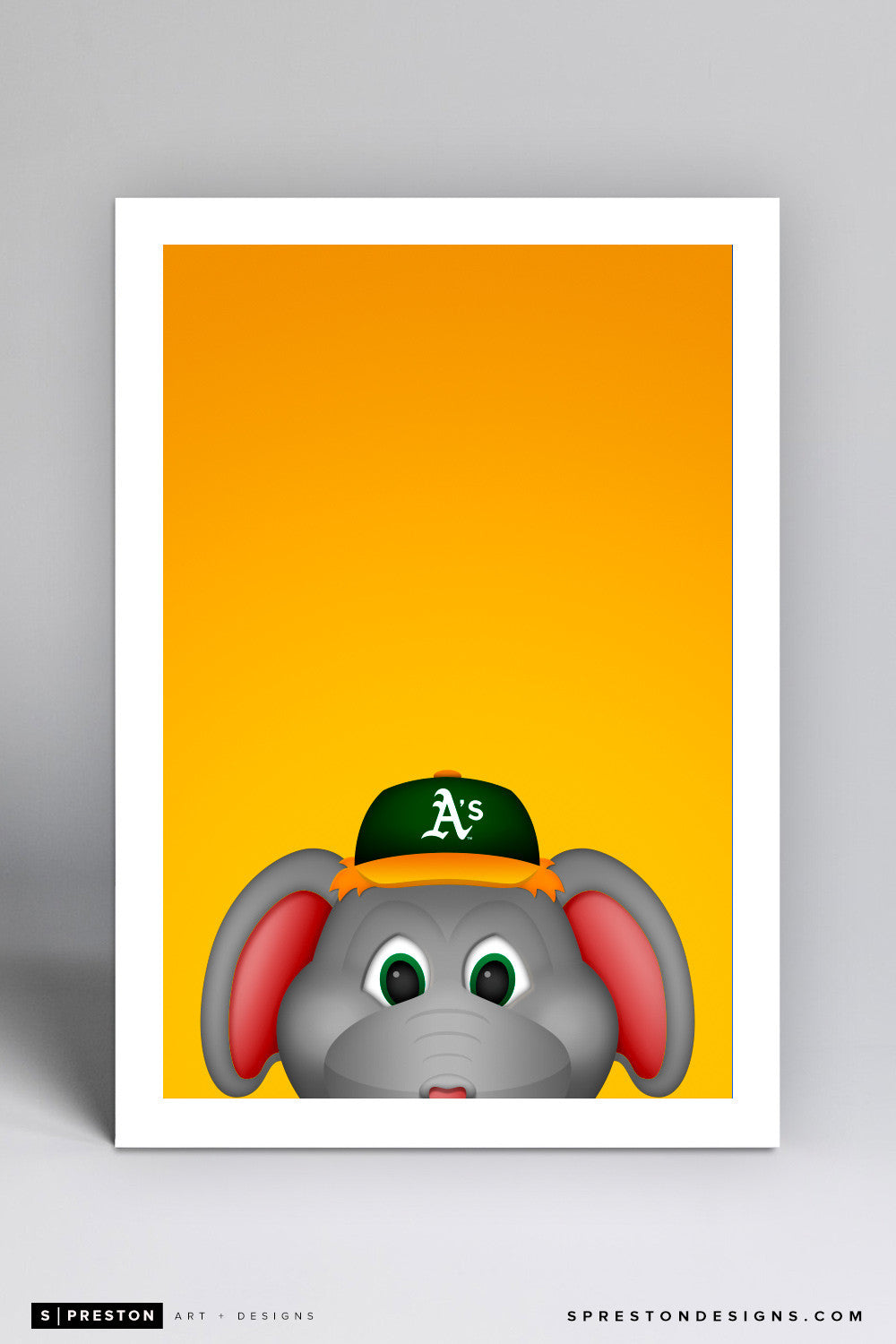 Minimalist Stomper Art Print - Oakland Athletics - S. Preston Art + Designs
