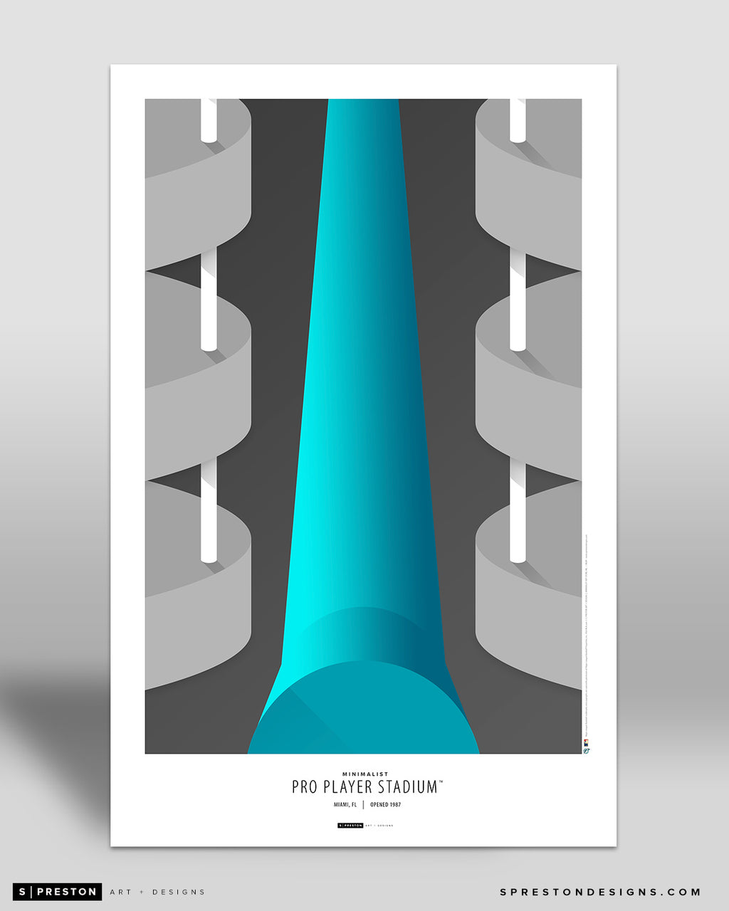 Minimalist Pro Player Stadium Poster Print Miami Marlins - S Preston
