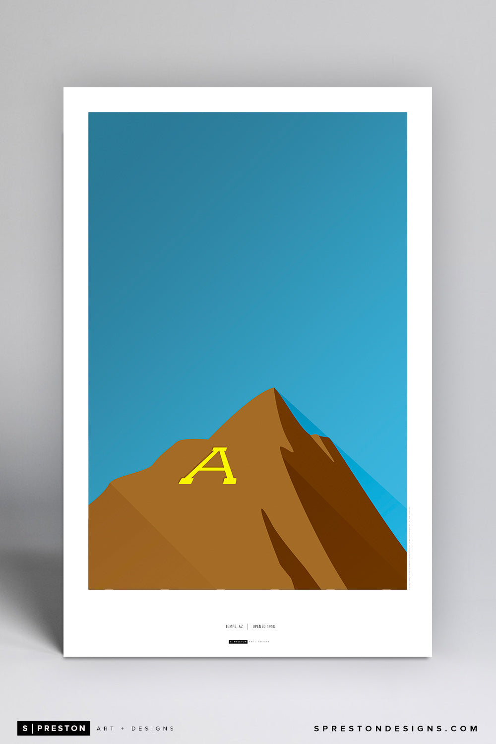 Minimalist Sun Devil Stadium Poster Print - Arizona State University - S. Preston Art + Designs