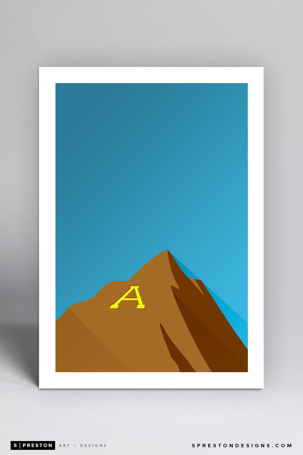 Minimalist Sun Devil Stadium Art Print - Arizona State University - S. Preston Art + Designs