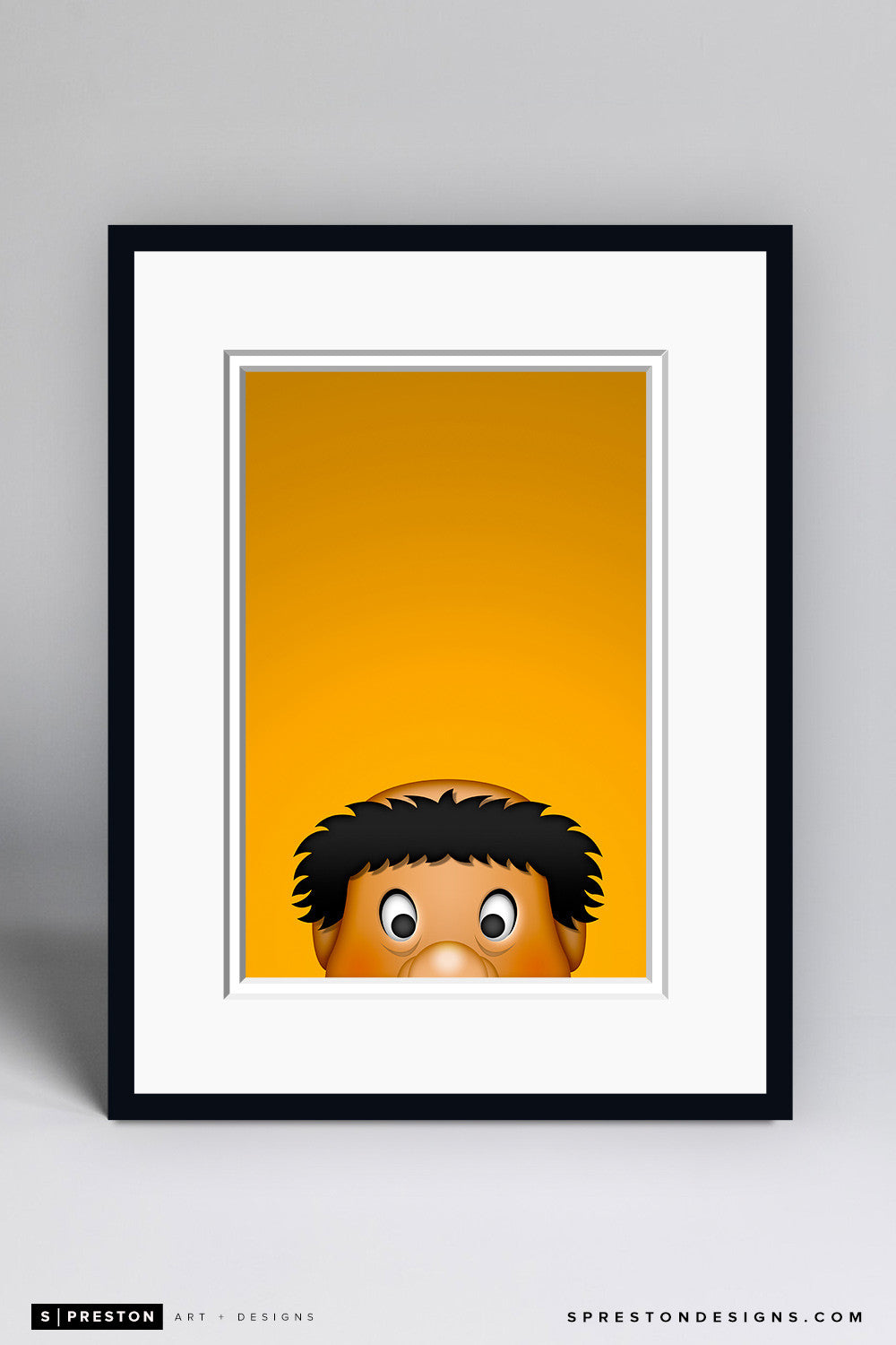 Minimalist Swinging Friar Art Print - San Diego Padres - S. Preston Art + Designs
