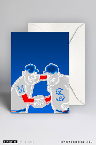 Minimalist Target Field Notecard Notecards - Minnesota Twins - S. Preston Art + Designs