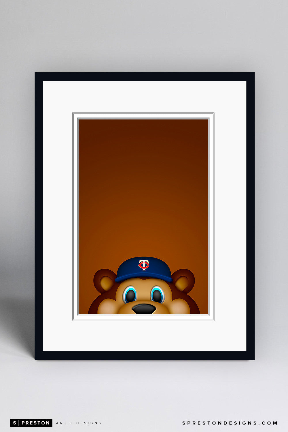 Minimalist T.C. Bear - Minnesota Twins - S. Preston