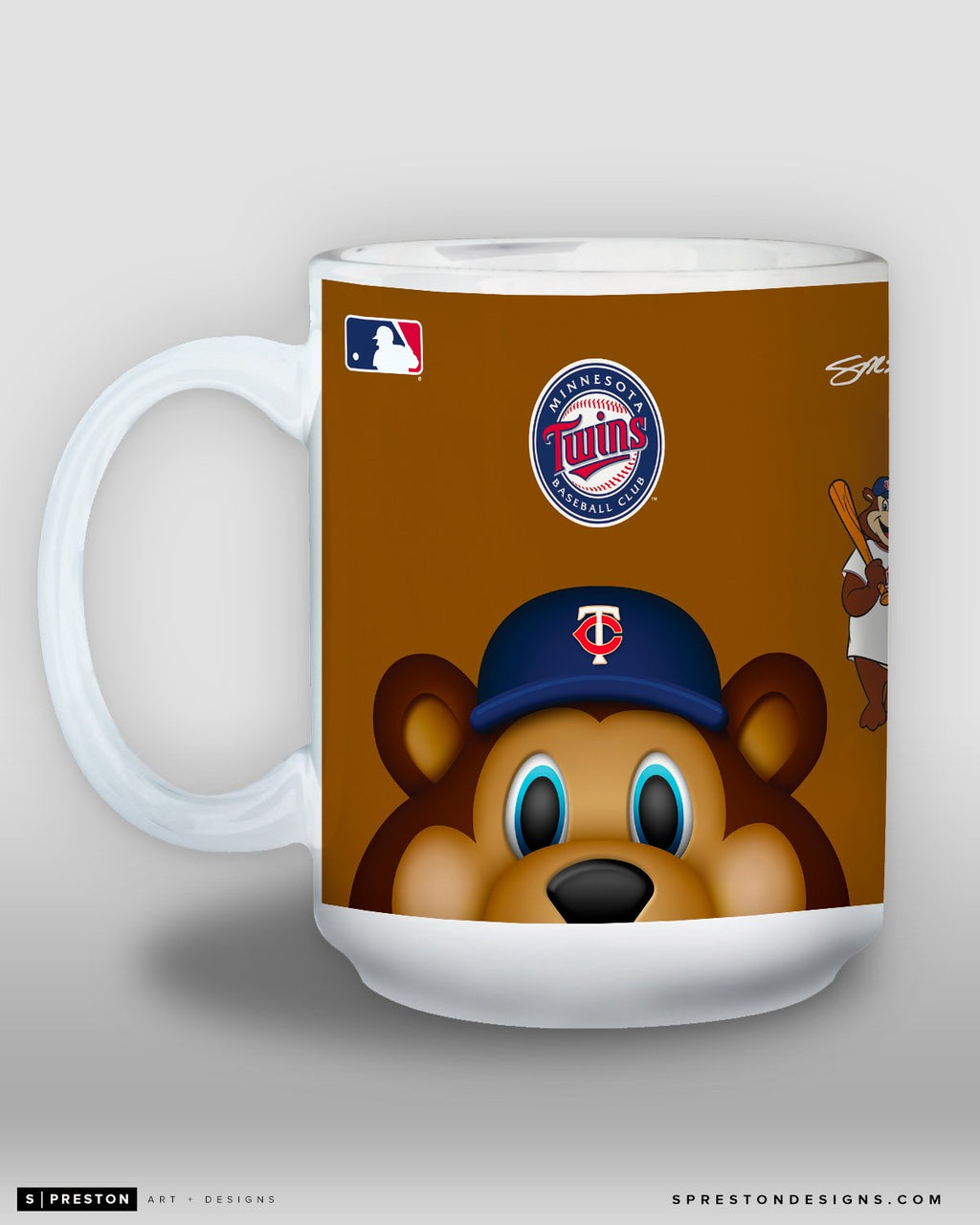 Minimalist T.C. Bear Coffee Mug - MLB Licensed - Minnesota Twins Mascot