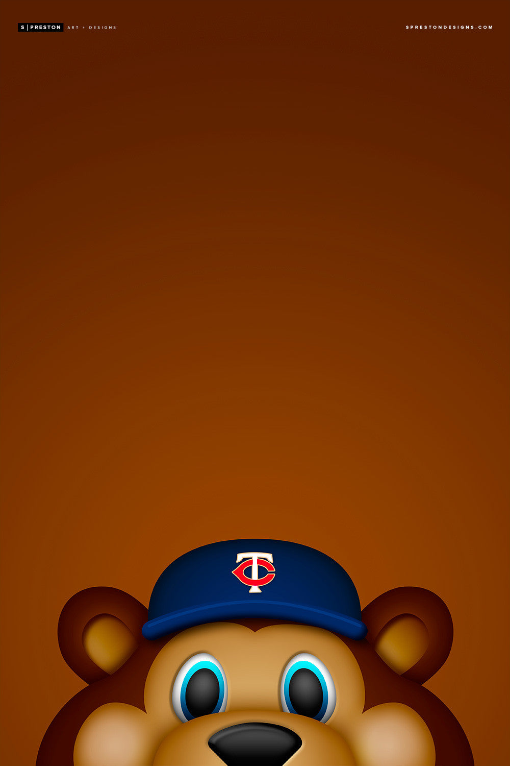 Minimalist T.C. Bear Canvas Canvas - Minnesota Twins - S. Preston Art + Designs