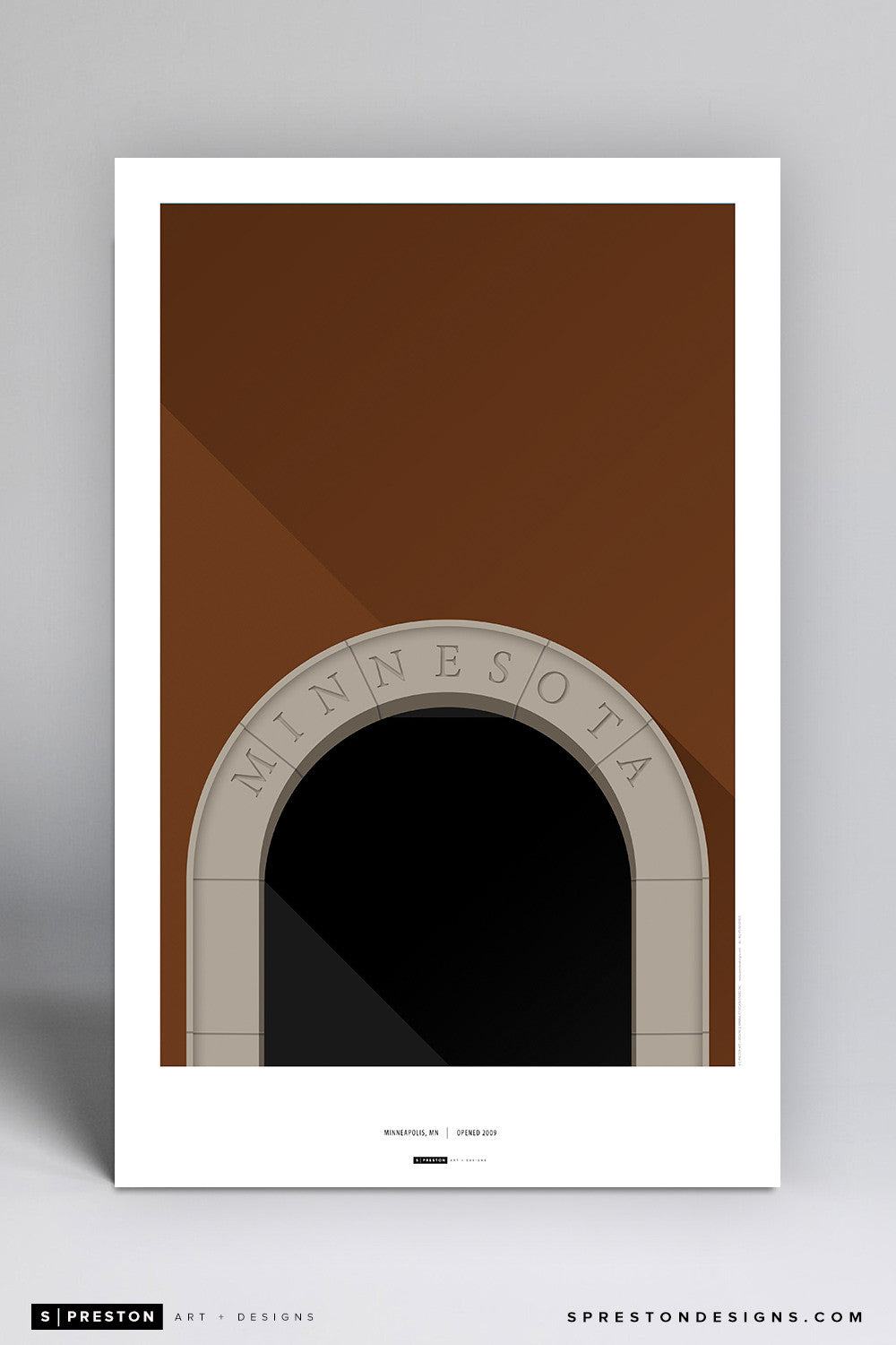Minimalist TCF Bank Stadium Art Poster Art Poster - University of Minnesota - S. Preston Art + Designs