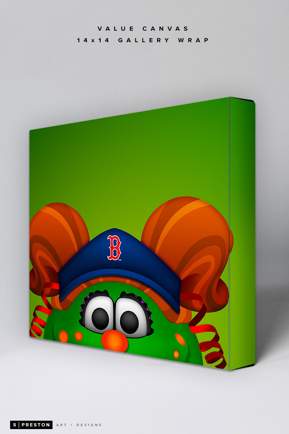 Minimalist Tessie The Green Monster Value Canvas