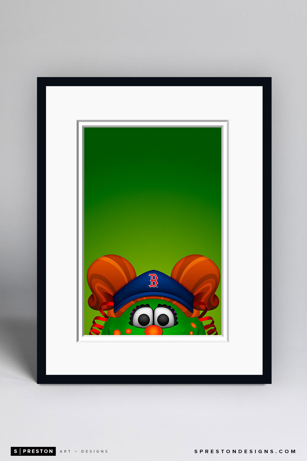 Minimalist Tessie the Green Monster - Boston Red Sox - S. Preston