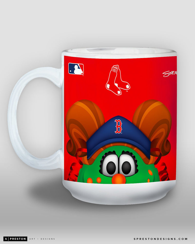 Minimalist Tessie The Green Monster Coffee Mug - MLB Licensed - Boston Red Sox Mascot