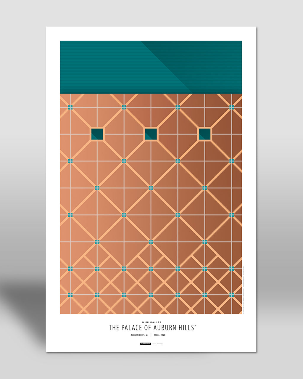 Minimalist The Palace Poster Print Detroit Pistons - S Preston