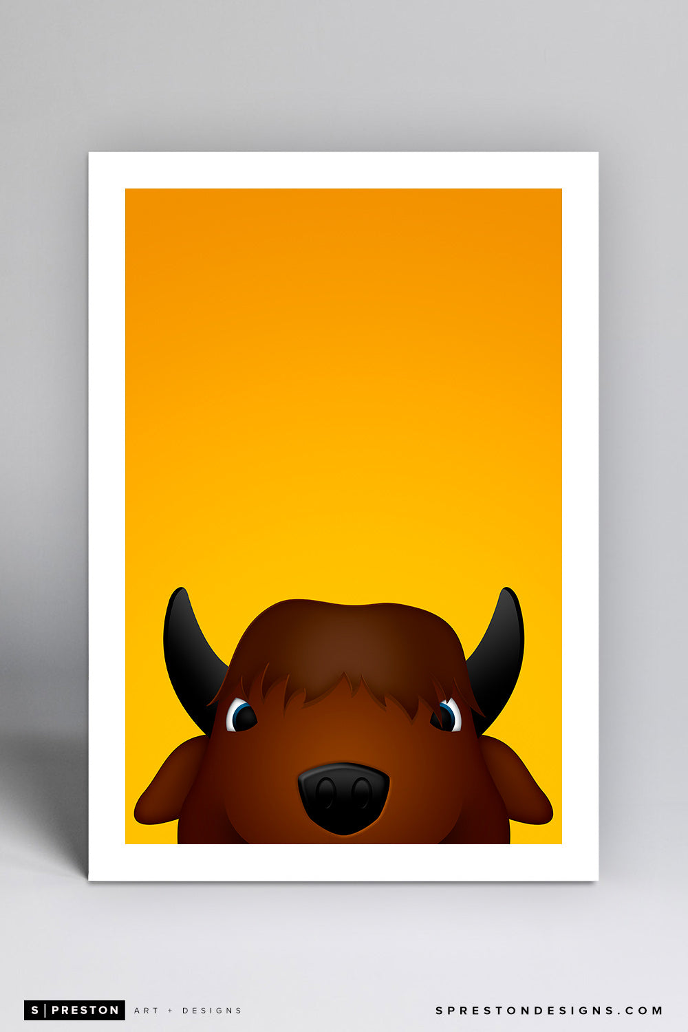 Minimalist Thundar - North Dakota State Art Print - North Dakota State University - S. Preston Art + Designs