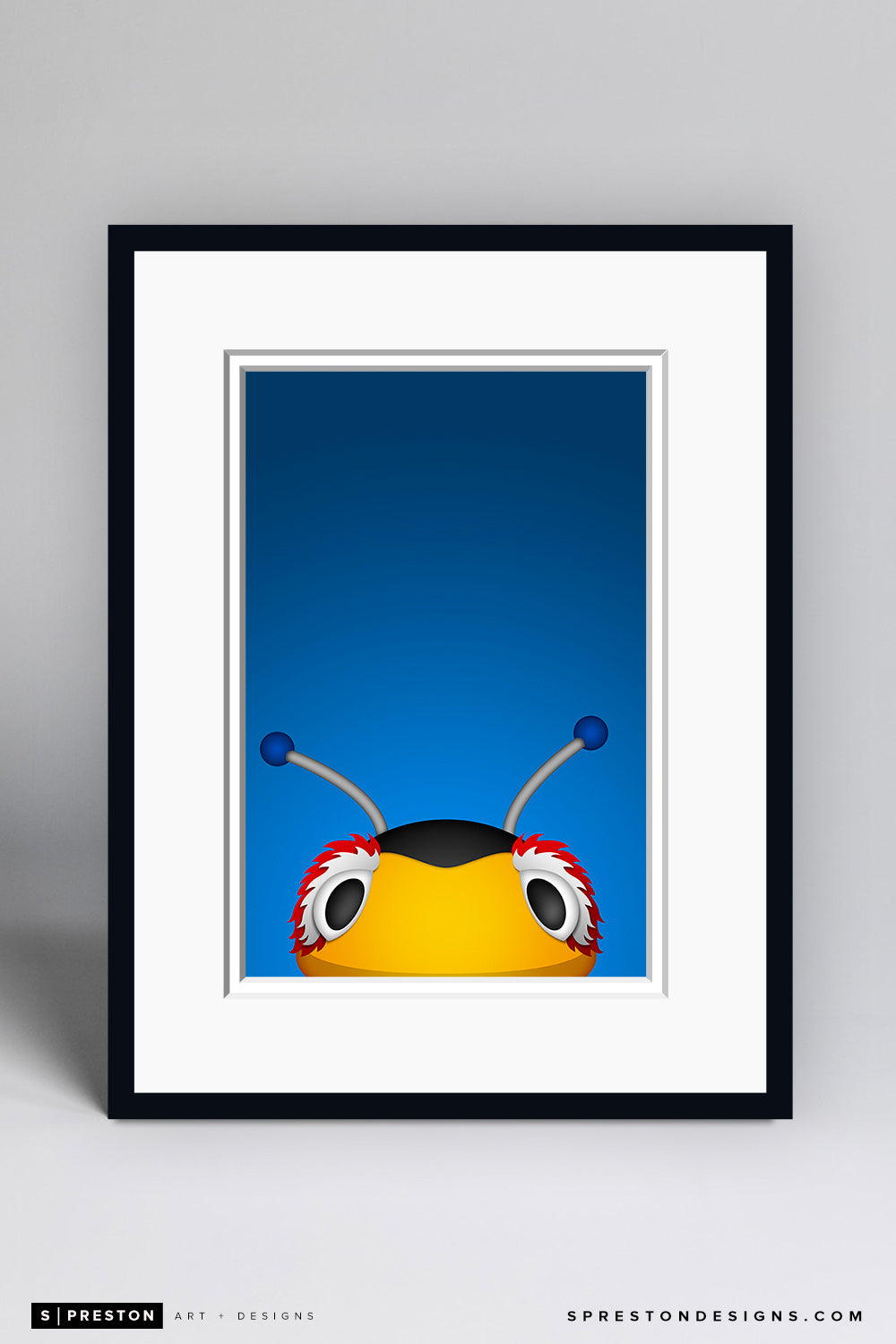 Thunderbug Art Print - Tampa Bay Lightning Mascot - S. Preston Art + Designs
