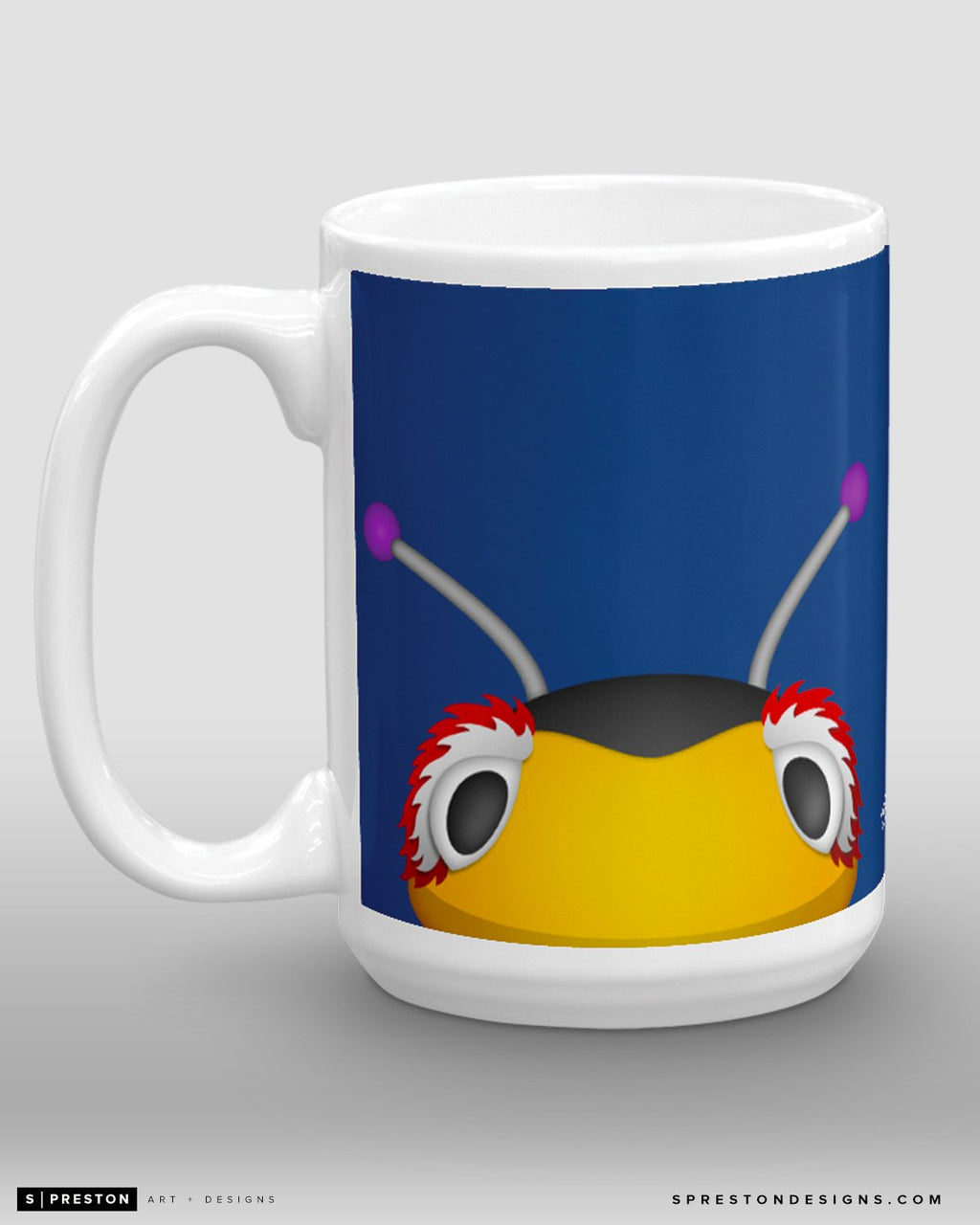 Minimalist Thunderbug Coffee Mug - NHL Licensed - Tampa Bay Lightning Mascot