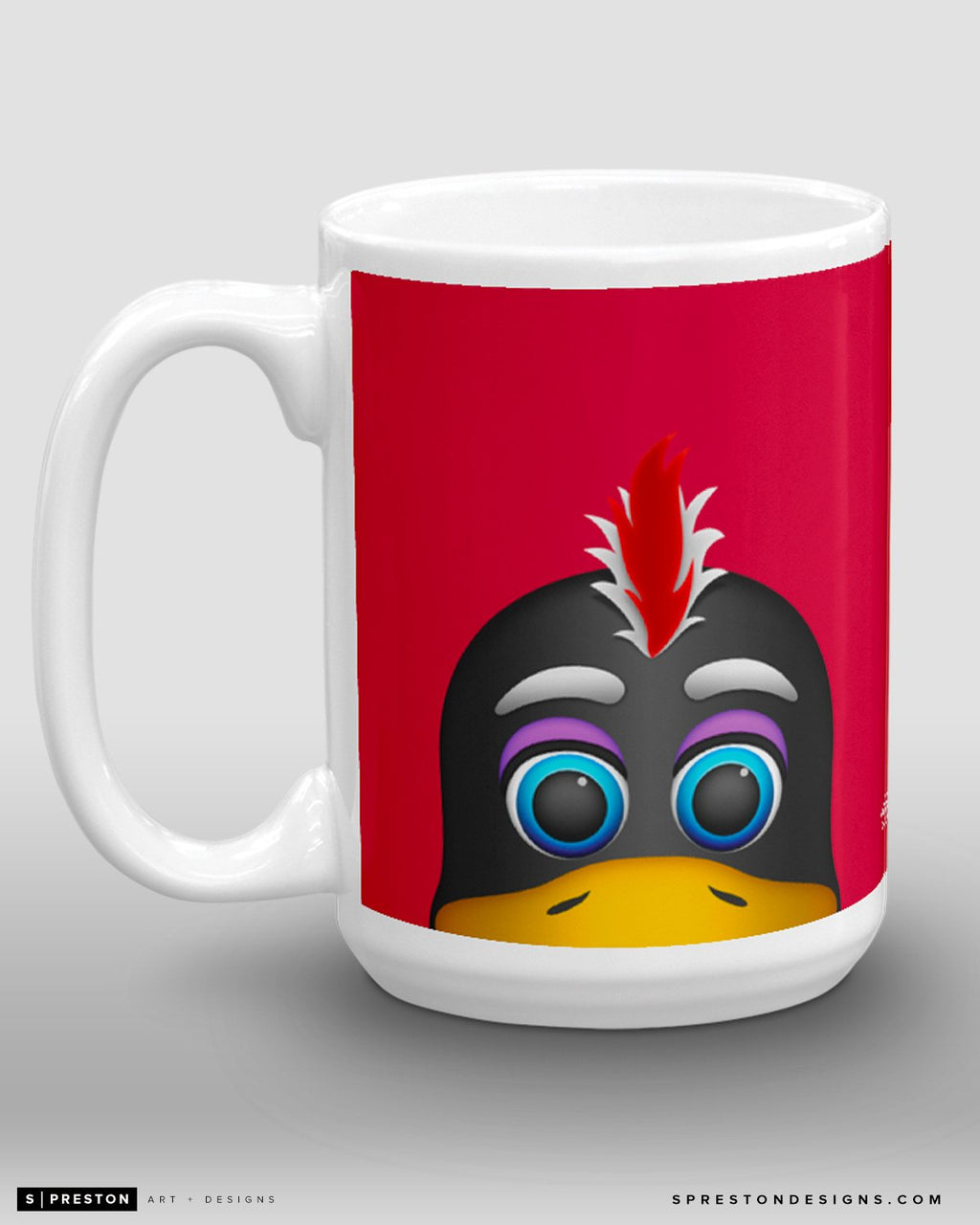 Minimalist Tommy Hawk Coffee Mug - NHL Licensed - Chicago Blackhawks Mascot