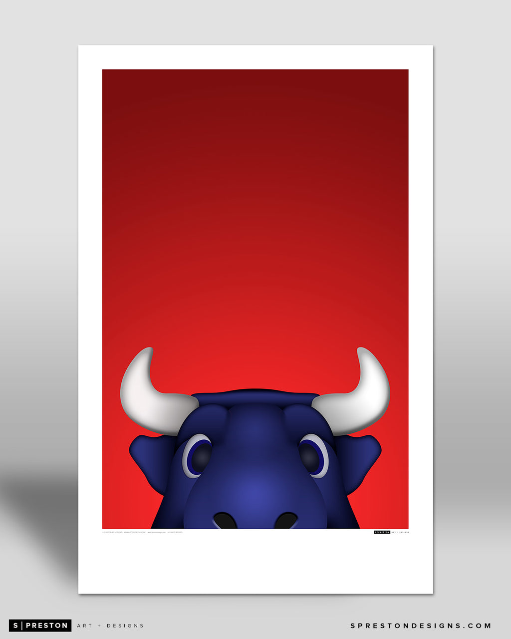 Minimalist Toro Poster Print Houston Texans - S Preston