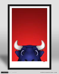 Minimalist Toro Poster Print Houston Texans - S. Preston
