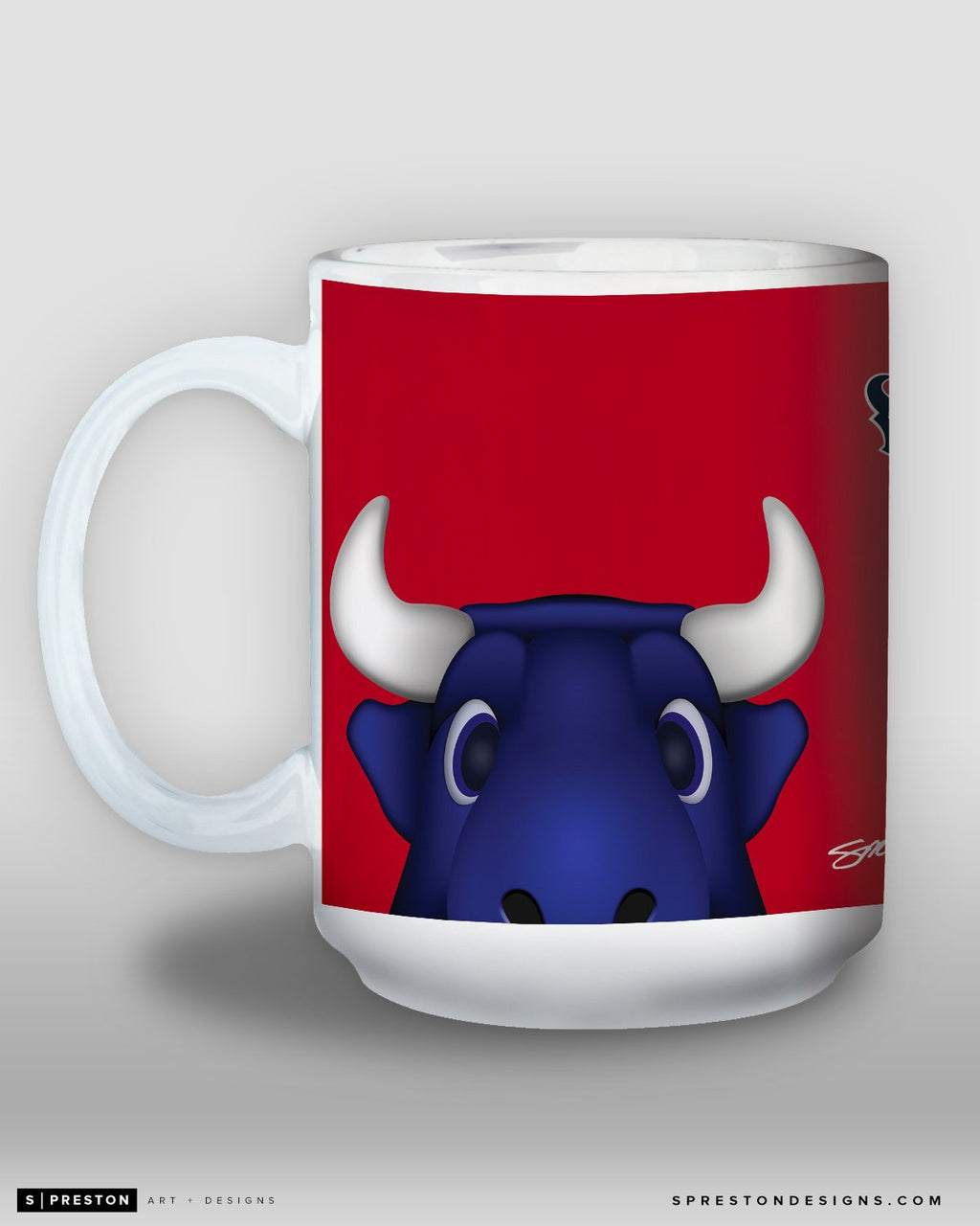 Minimalist Toro Coffee Mug Houston Texans Mascot - S. Preston