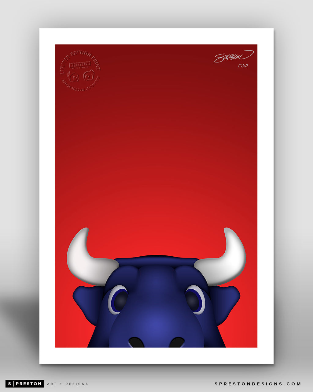 Minimalist Toro Houston Texans Mascot - S. Preston