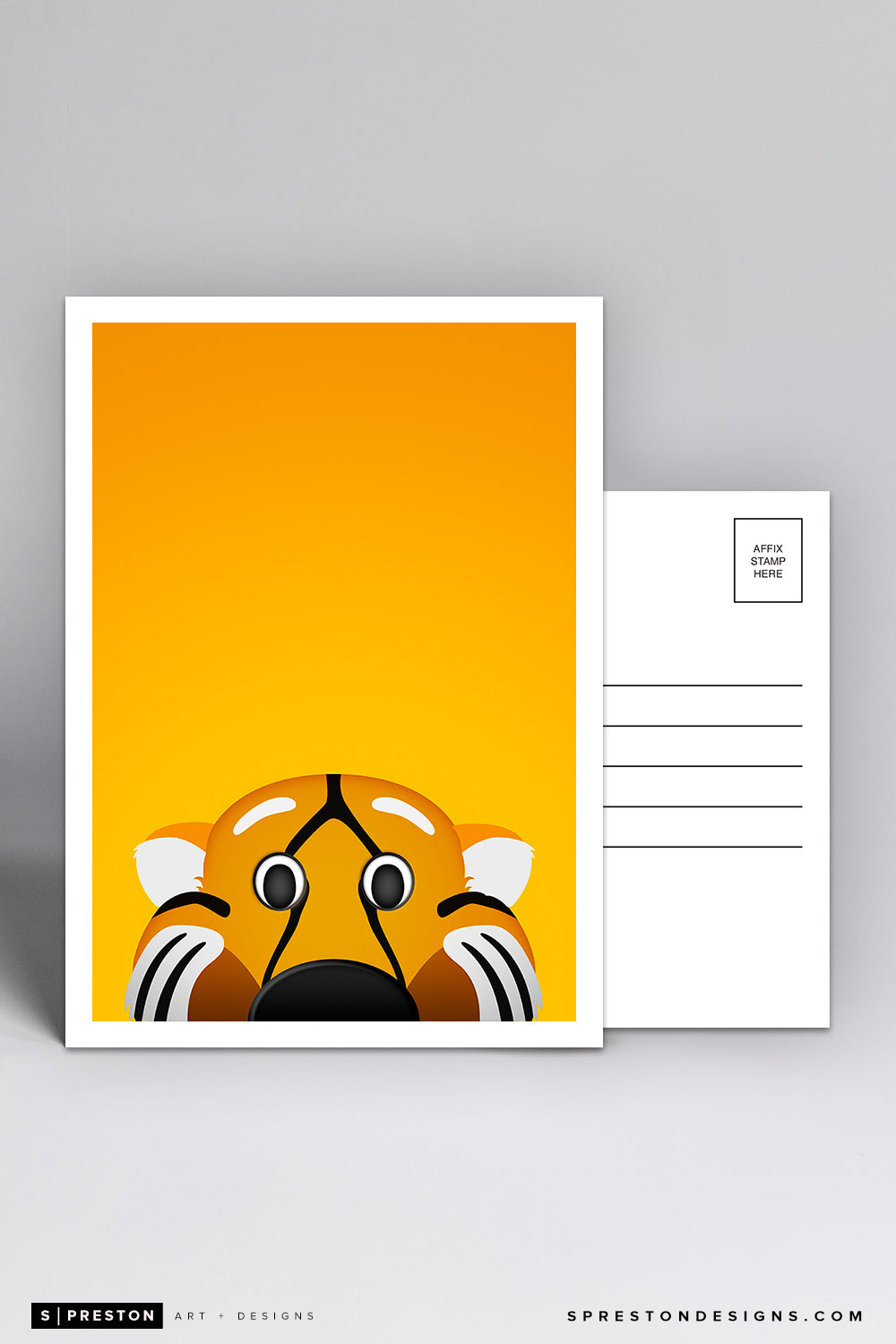 Minimalist Truman the Tiger Postcard - Mizzou University of Missouri Mascot