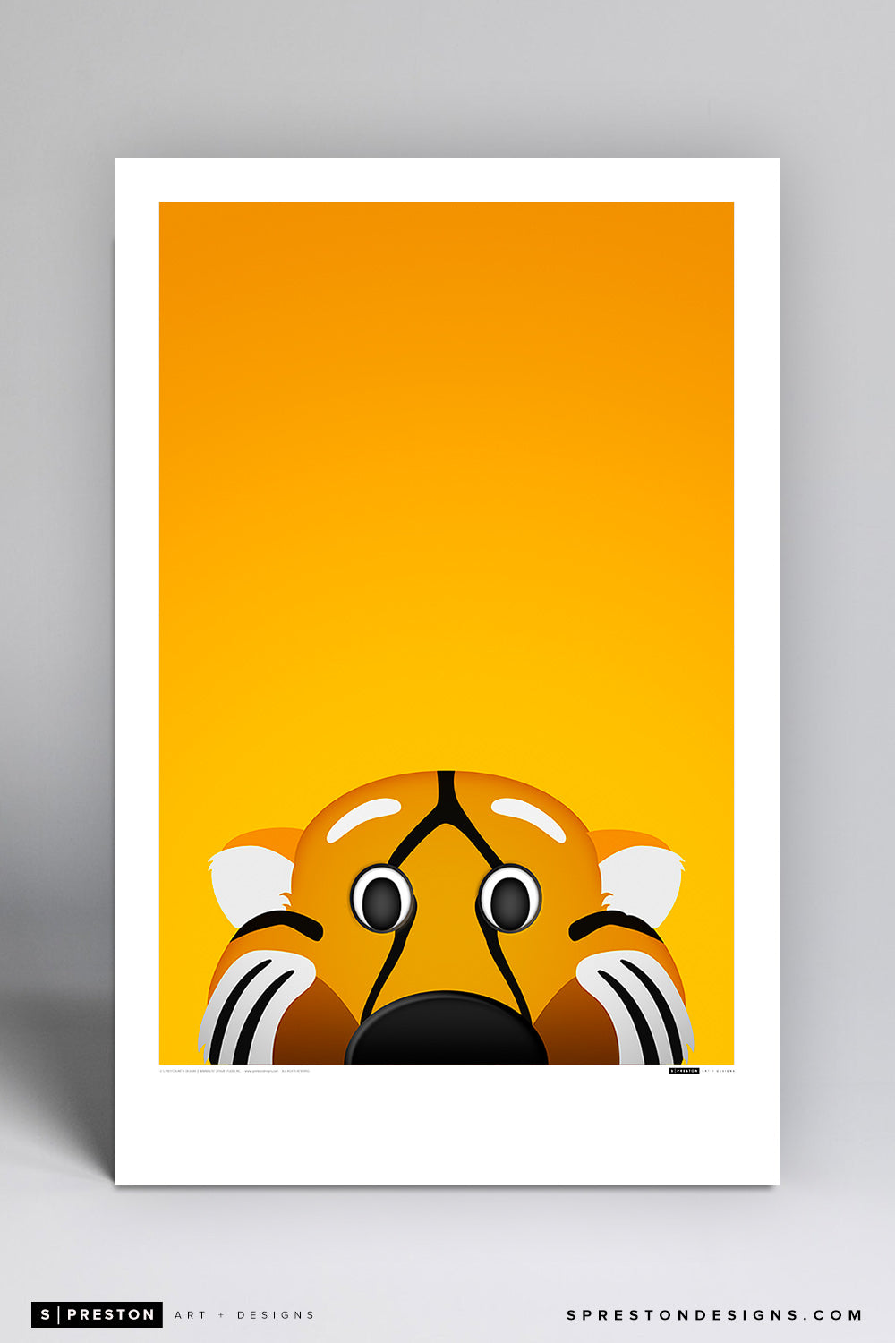 Minimalist Truman the Tiger - Mizzou Poster Print - University of Missouri - S. Preston Art + Designs