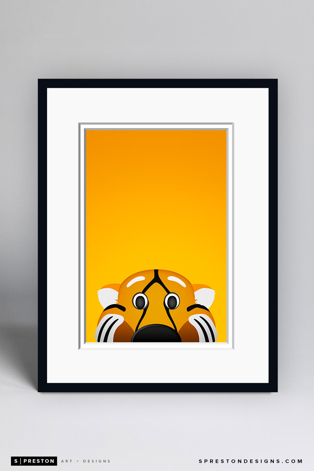 Minimalist Truman the Tiger - Mizzou Art Print - University of Missouri - S. Preston Art + Designs