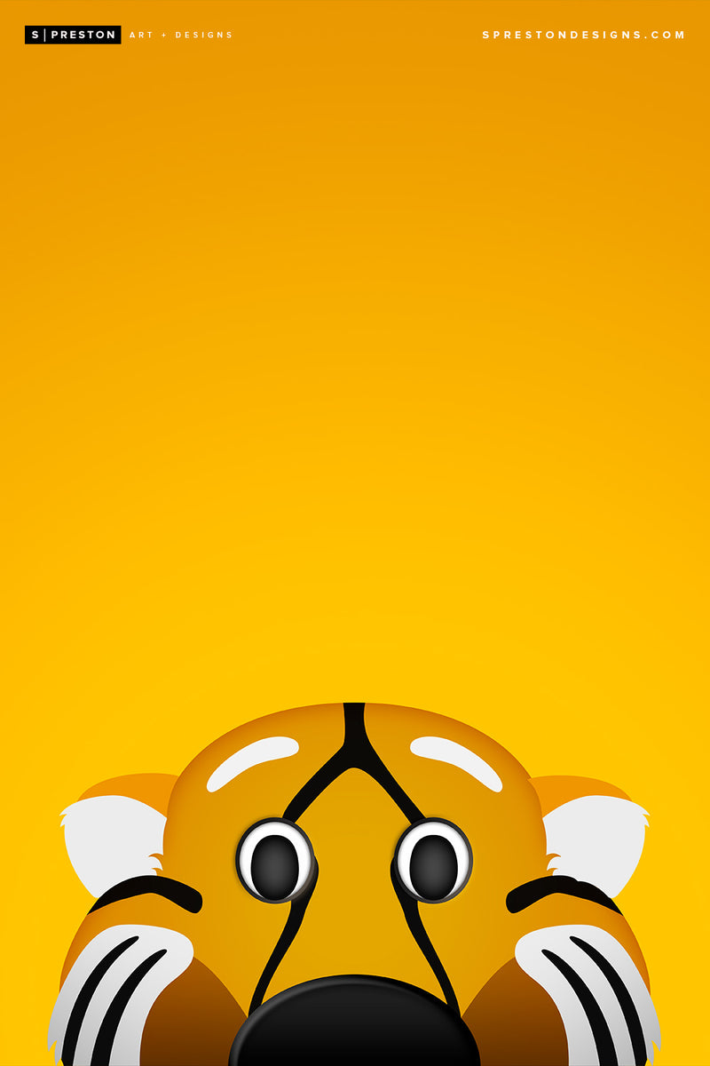 Minimalist Truman the Tiger - Mizzou Tigers - S. Preston