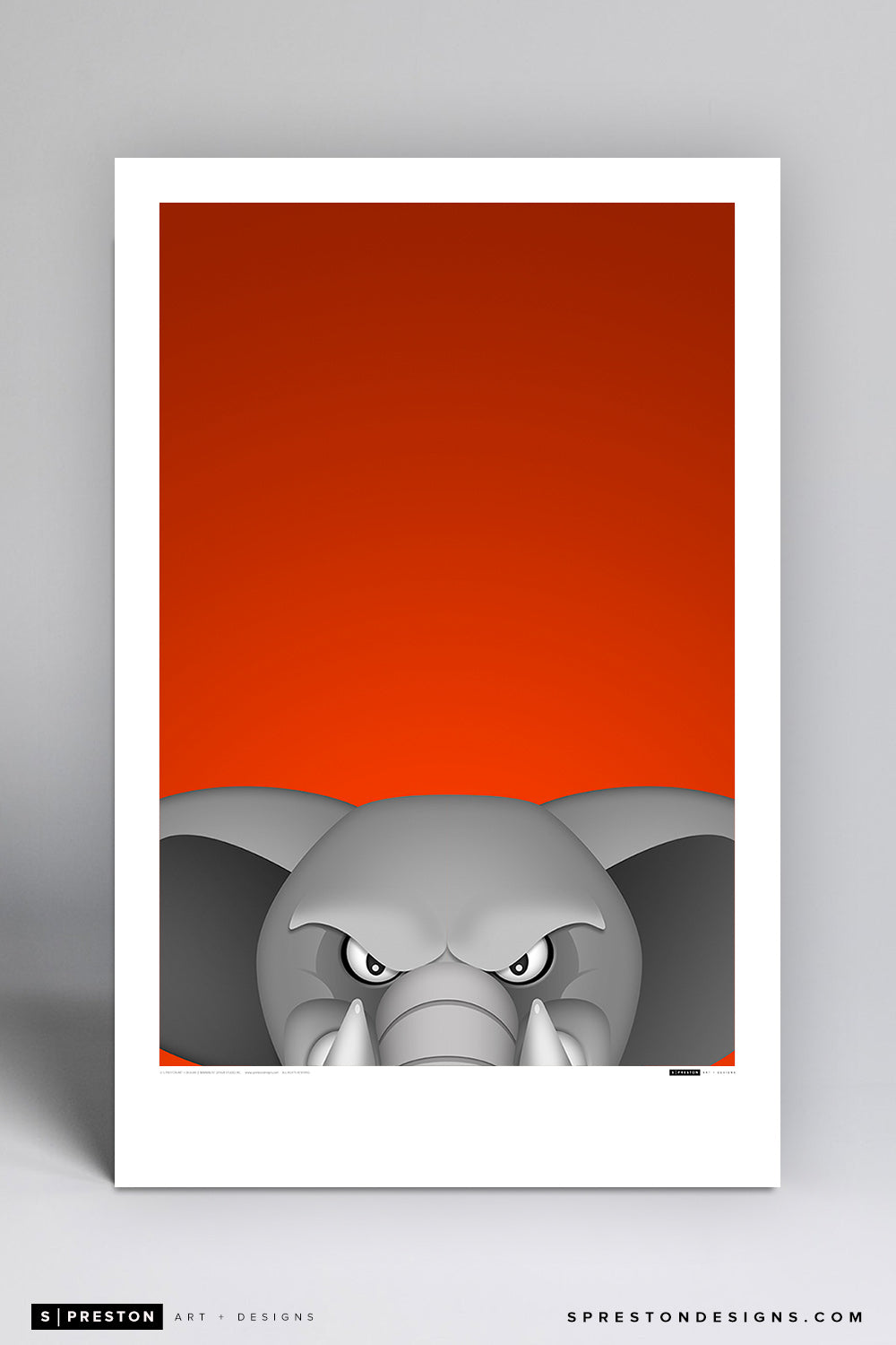 Minimalist Tuffy - Cal State Fullerton Poster Print - Cal State Fullerton - S. Preston Art + Designs
