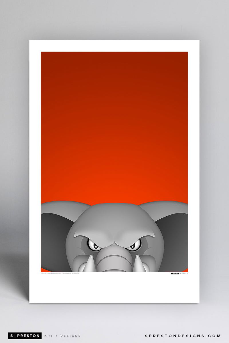 Minimalist Tuffy - Cal State Fullerton Poster Print Cal State Fullerton - S Preston