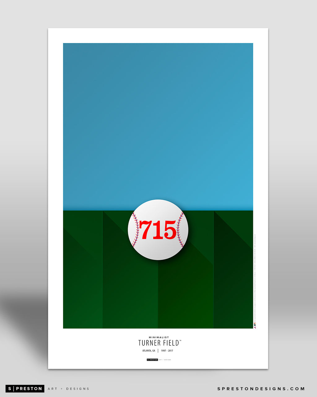 Minimalist Turner Field Poster Print Atlanta Braves - S Preston