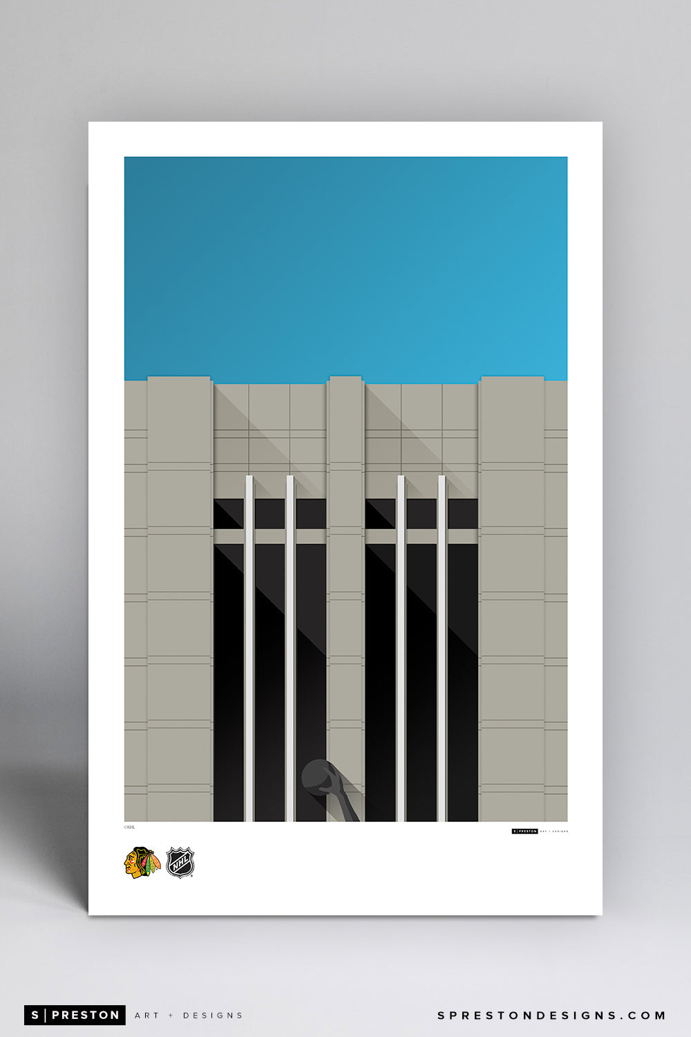 Minimalist United Center Poster Print Chicago Blackhawks - S Preston