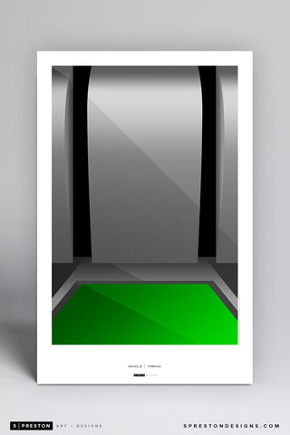 Minimalist University of Phoenix Stadium Art Poster