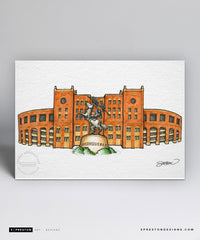 Doak Campbell Stadium Sketch Illustration Limited Edition - Florida State University - S. Preston Art + Designs