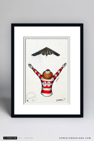 Stealth Brutus Buckeye Sketch - Ohio State 2019 Rose Bowl Sketch