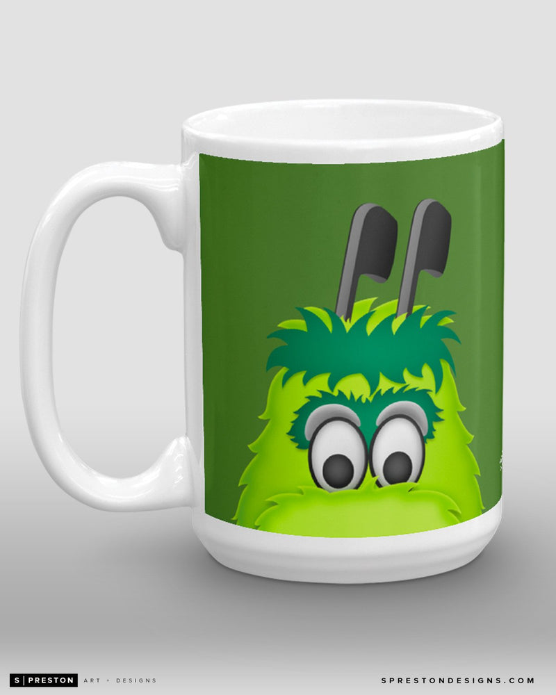 Minimalist Victor E. Green Coffee Mug - NHL Licensed - Dallas Stars Mascot