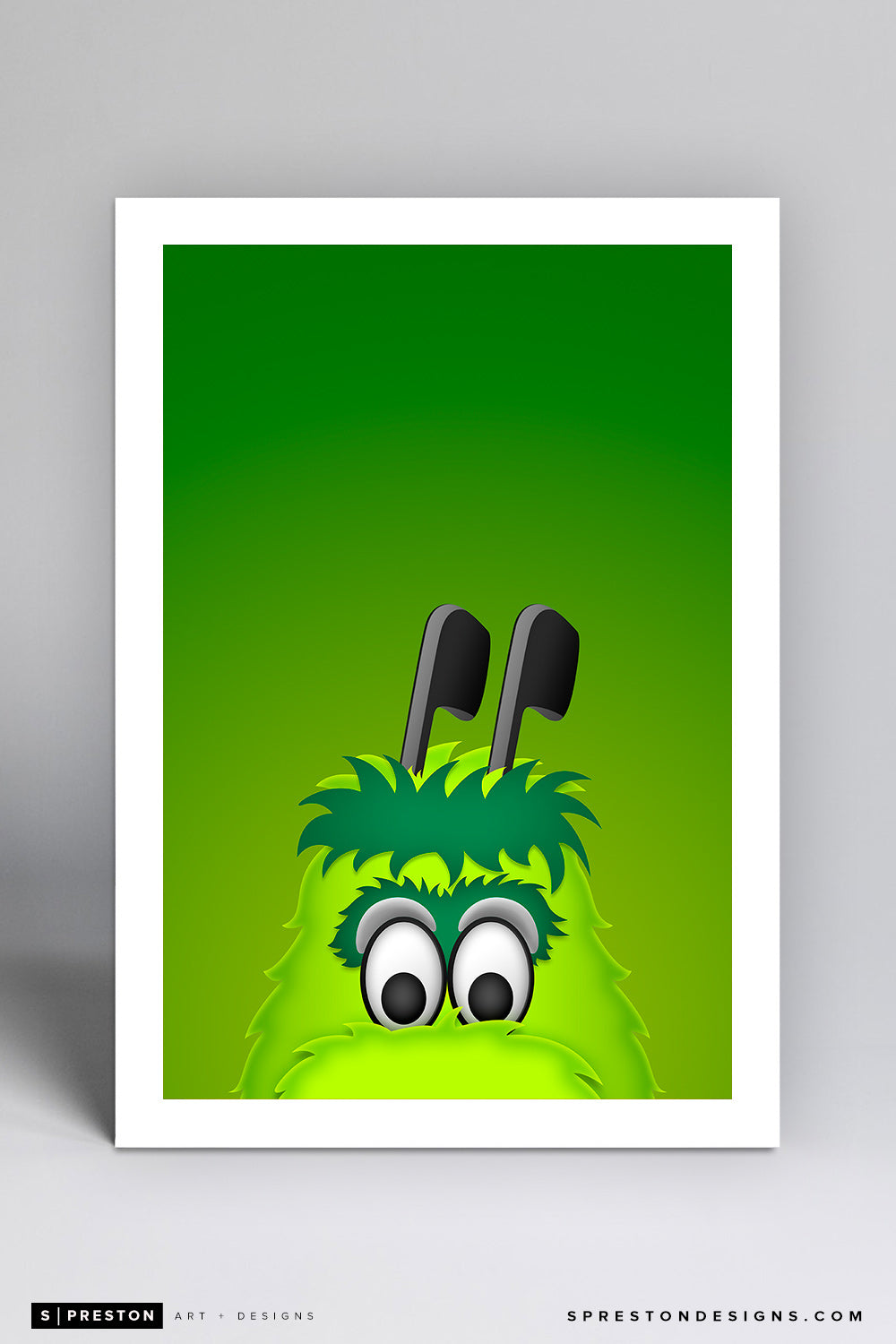 Victor E. Green Art Print - Dallas Stars Mascot - S. Preston Art + Designs
