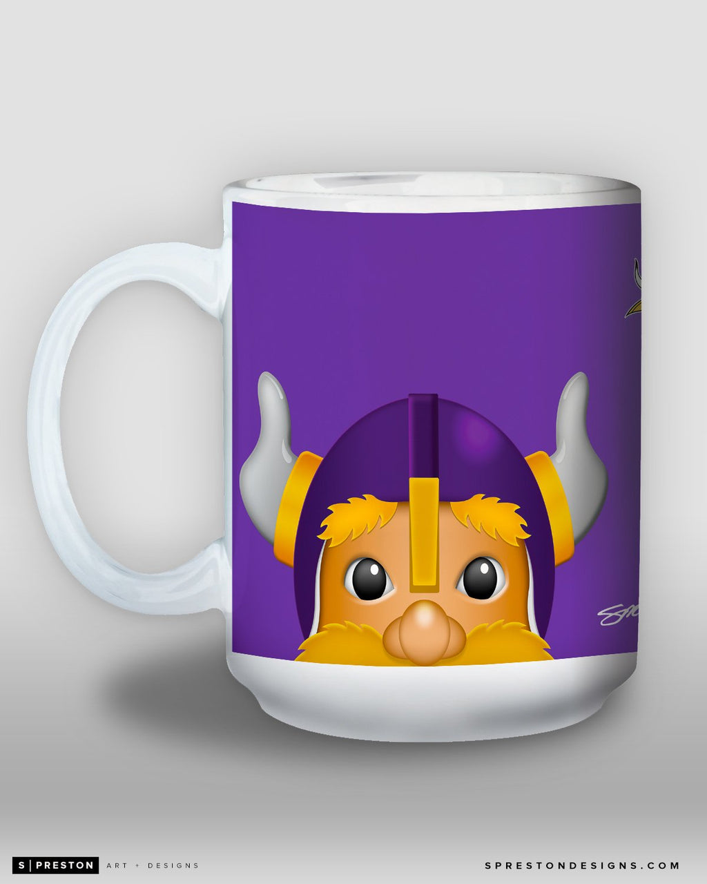 Minimalist Viktor The Viking Coffee Mug - NFL Licensed - Minnesota Vikings Mascot
