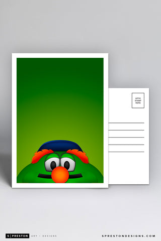 Minimalist Wally The Green Monster Postcard