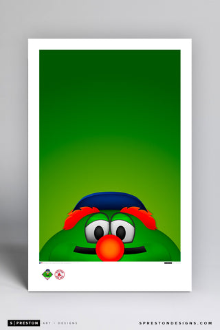 Minimalist Wally The Green Monster Art Poster