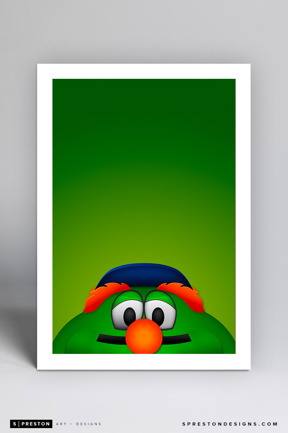 Minimalist Wally the Green Monster Art Print - Boston Red Sox - S. Preston Art + Designs