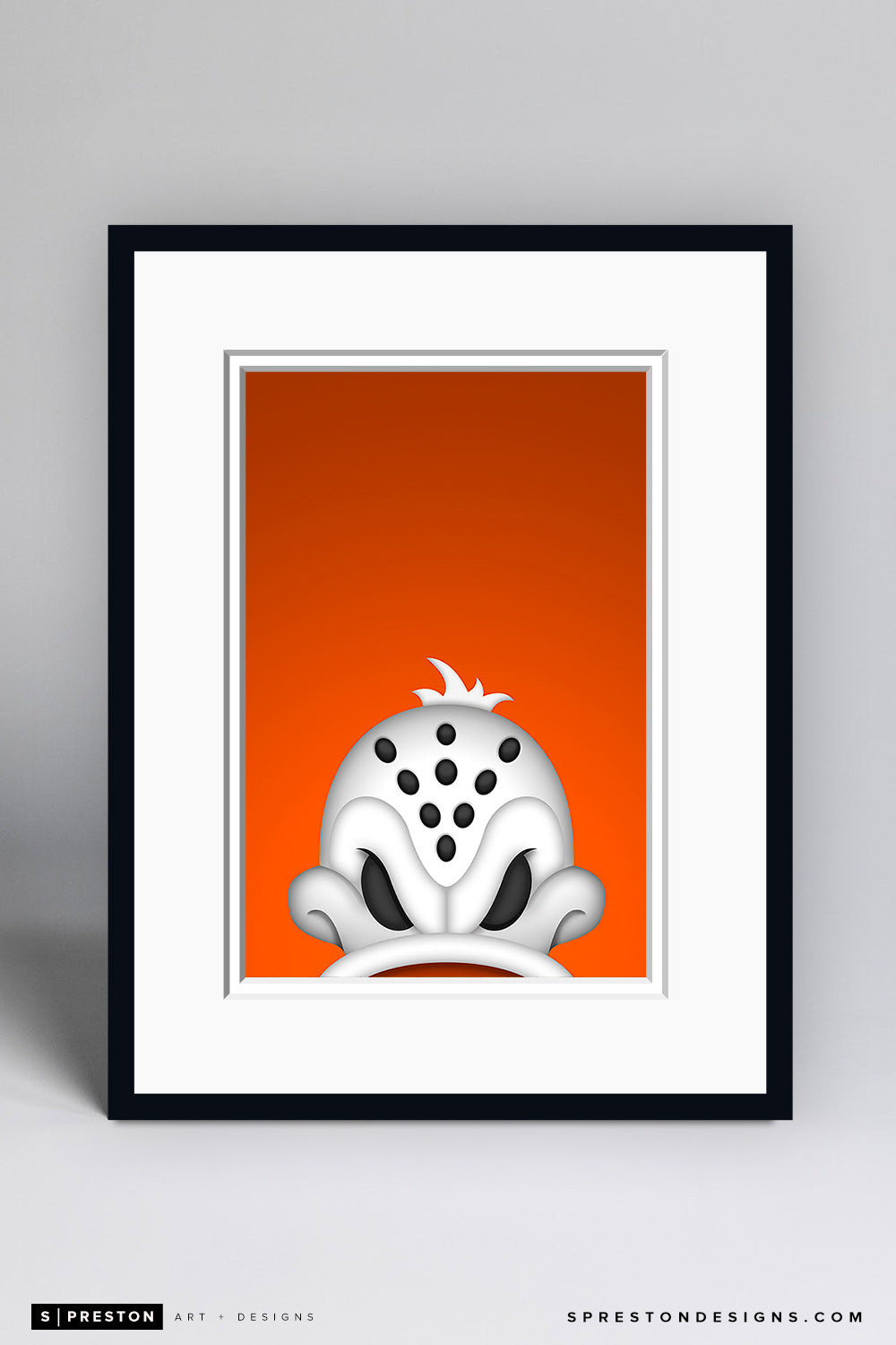 Minimalist Wild Wing Art Print - Anaheim Ducks - S. Preston Art + Designs