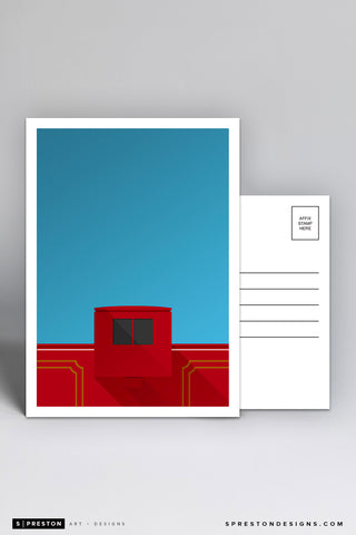 Minimalist Williams-Brice Stadium Postcard