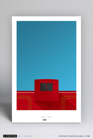 Minimalist Williams-Brice Stadium Art Poster