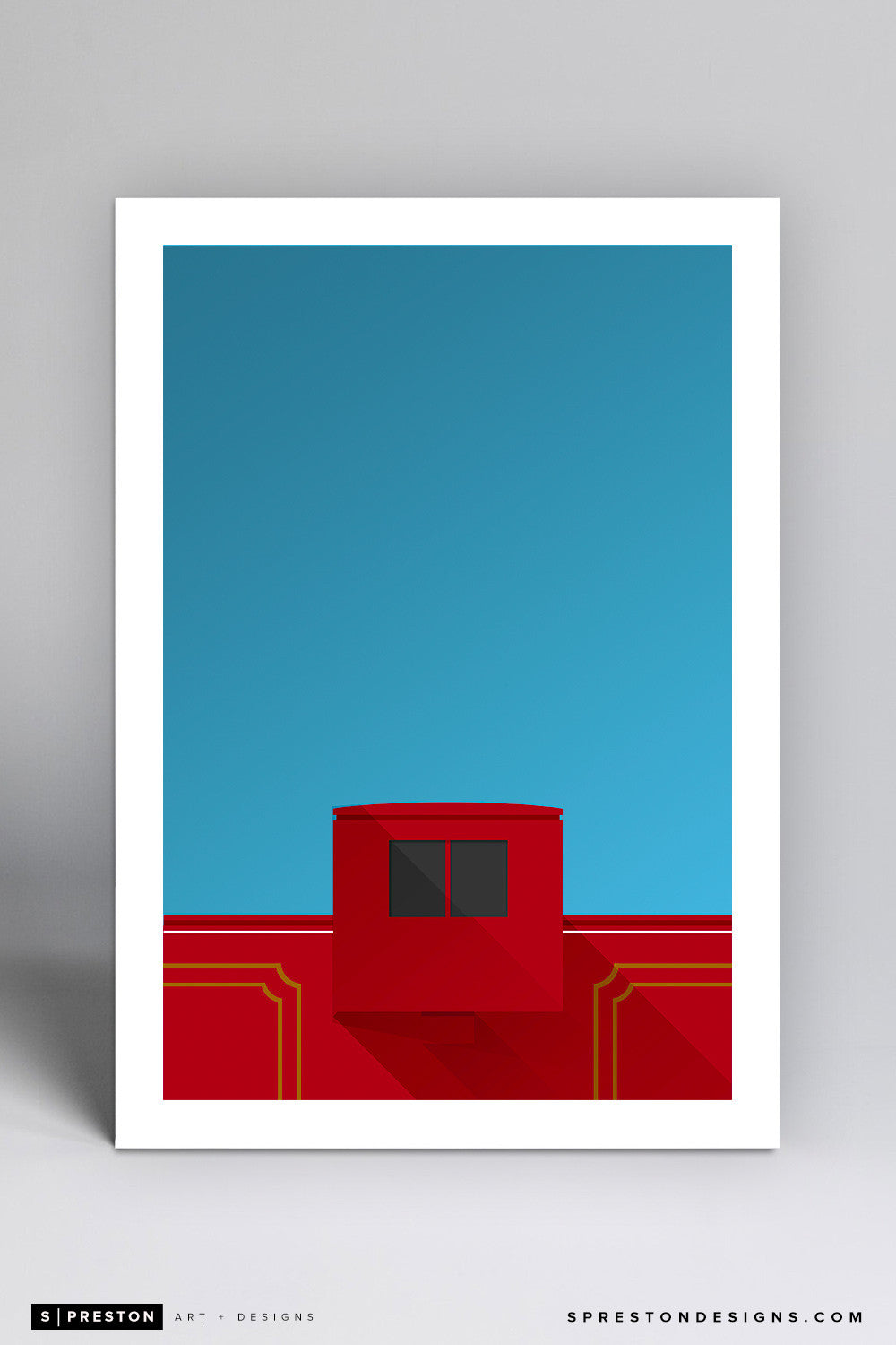 Minimalist Williams-Brice Stadium Art Print - University of South Carolina - S. Preston Art + Designs