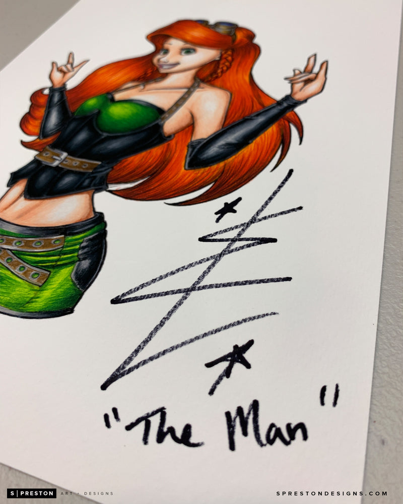 Lasskicker Sketch Fine Art Print - Becky Lynch Signed