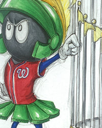 World Series Marvin the Martian - Nationals Masterworks Original Art