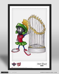 World Series Marvin The Martian - Nationals Poster Print