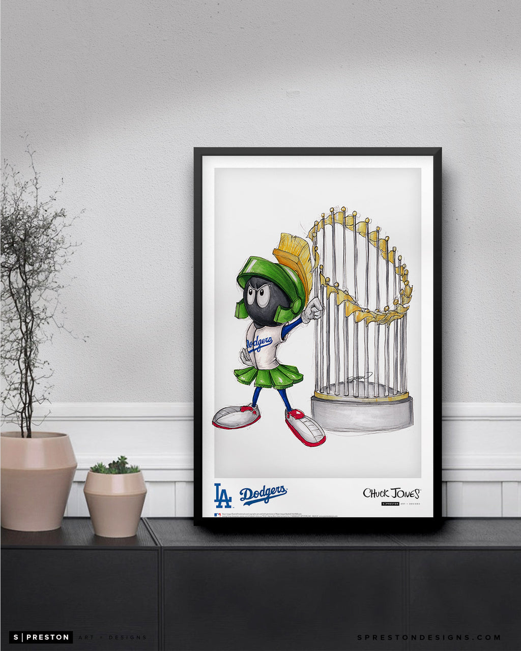 World Series Marvin The Martian - Dodgers Poster Print